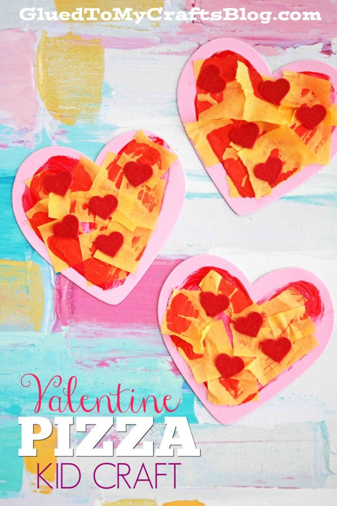 Craft Foam Heart Valentine Pizza - Kid Craft