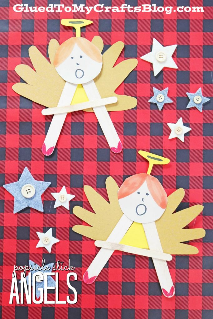 """A"" is for Angel - Christmas Kid Craft Idea"