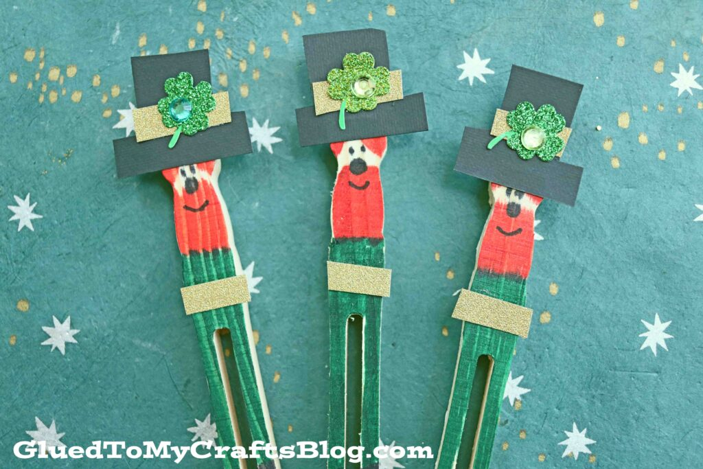 Flat Clothespin Leprechauns - St. Patrick's Day Kid Craft