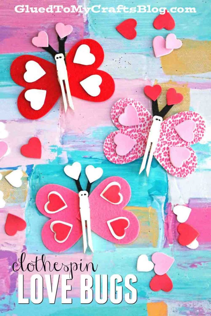 Clothespin Love Bug Butterflies - Kid Craft