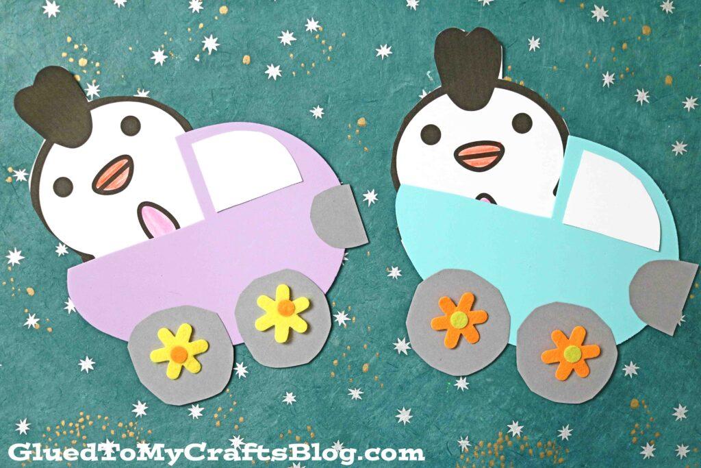 Craft Foam Easter Egg Trucks - Kid Craft