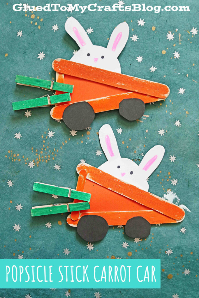 Popsicle Stick Carrot Cars - Kid Craft
