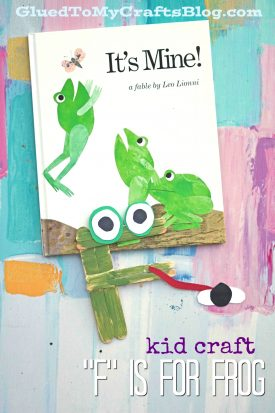 """F' is for Frog Kid Craft Idea"