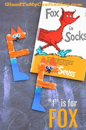 """F"" is for Fox In Socks - Kid Craft"