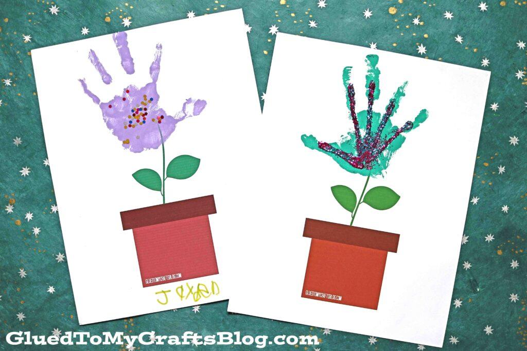 The Simplest Handprint Flower Pot - Kid Craft Idea