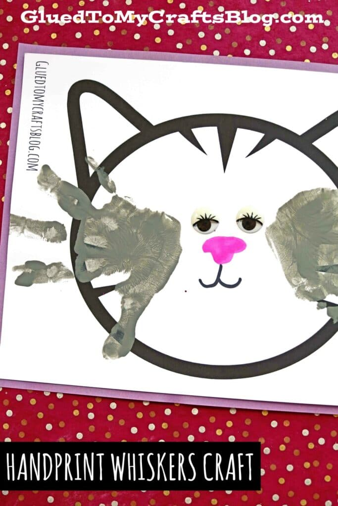 Handprint Cat Whiskers Keepsake Idea For Kids