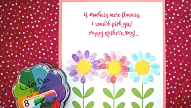 Mother's Day I'd Pick You - Thumbprint Flower Printable