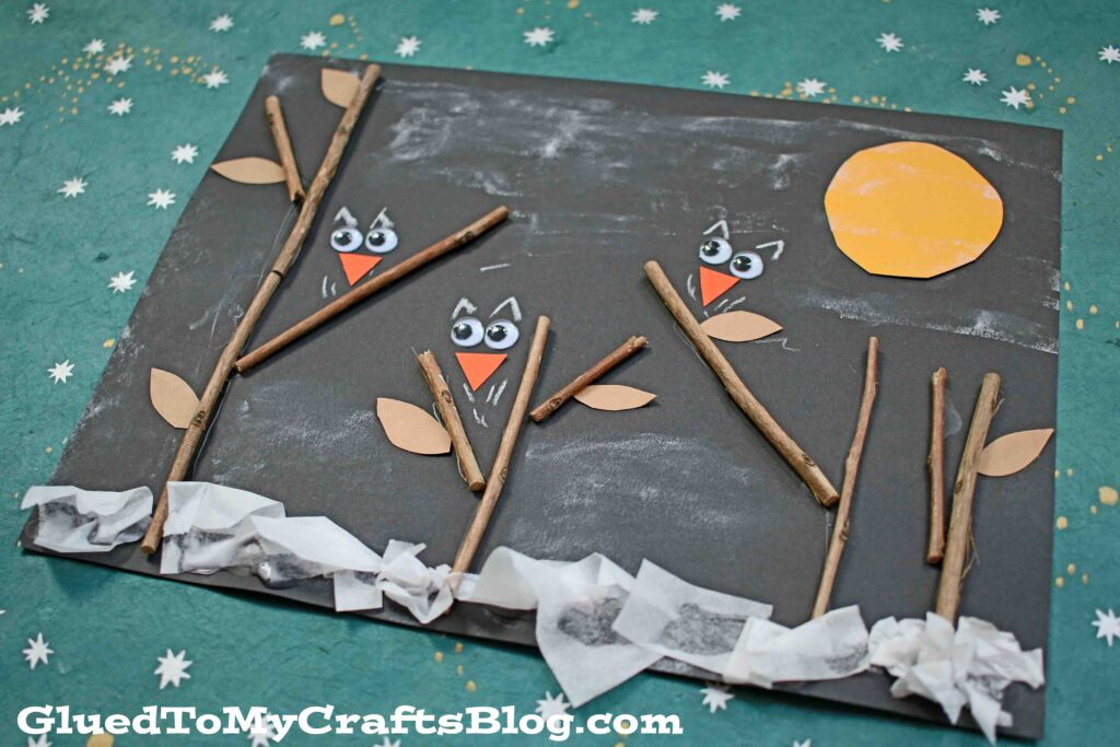 Owls In The Night - Paper Kid Craft Tutorial