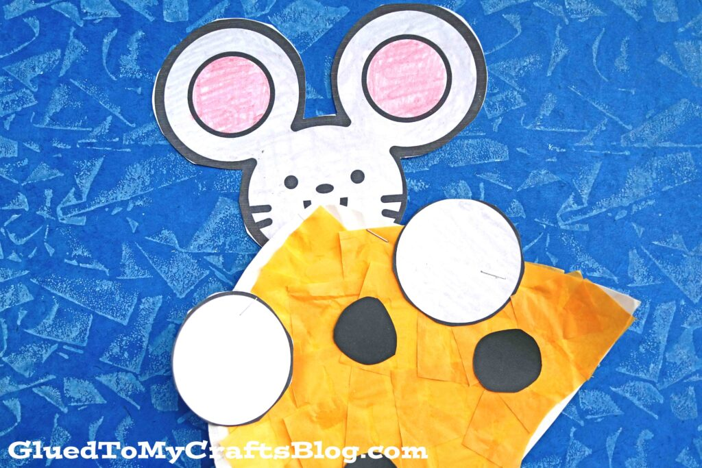 Paper Plate Cheese and Mouse - Kid Craft Idea