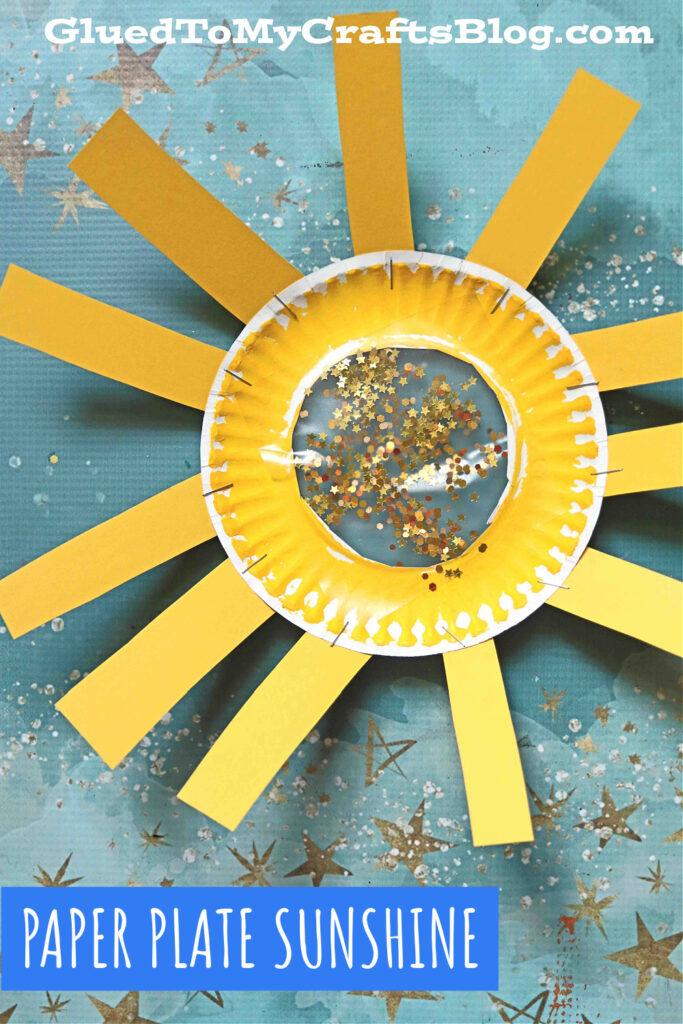 Paper Plate Suncatcher Sunshine - Kid Craft