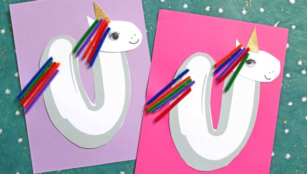 """""""U"""" Is For Unicorn - Paper & Pipe Cleaner Kid Craft Idea"""