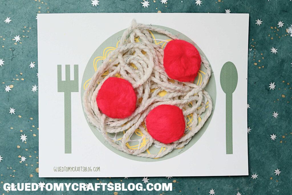 Pom Pom & Yarn Spaghetti With The Yeti - Kid Craft Idea