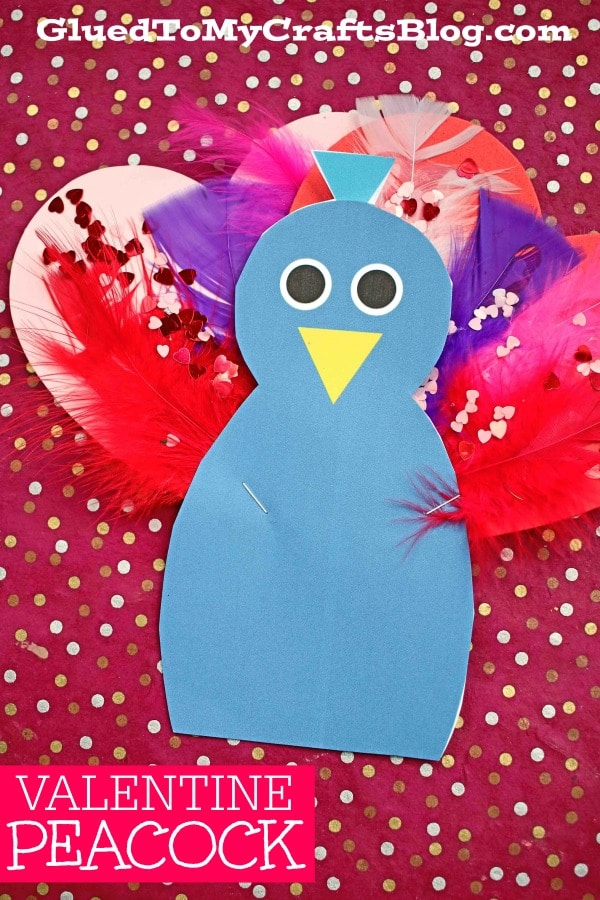 Mixed Media Valentine Peacock - Kid Craft