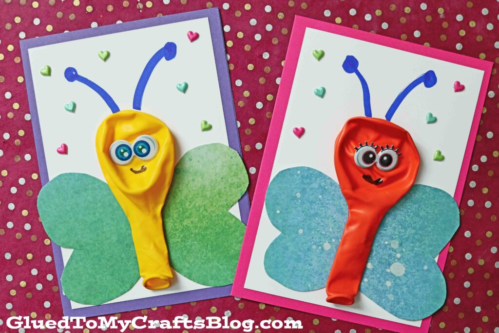 Balloon Butterfly Cards For Kids To Make & Gift This Spring