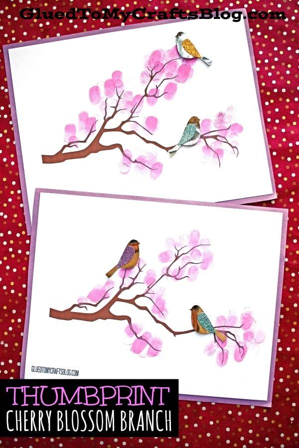 Paper Cherry Blossom Tree Branch - Kid Craft
