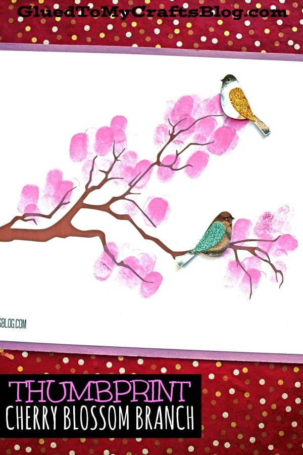 Thumbprint Cherry Blossom Tree Branch - Kid Craft