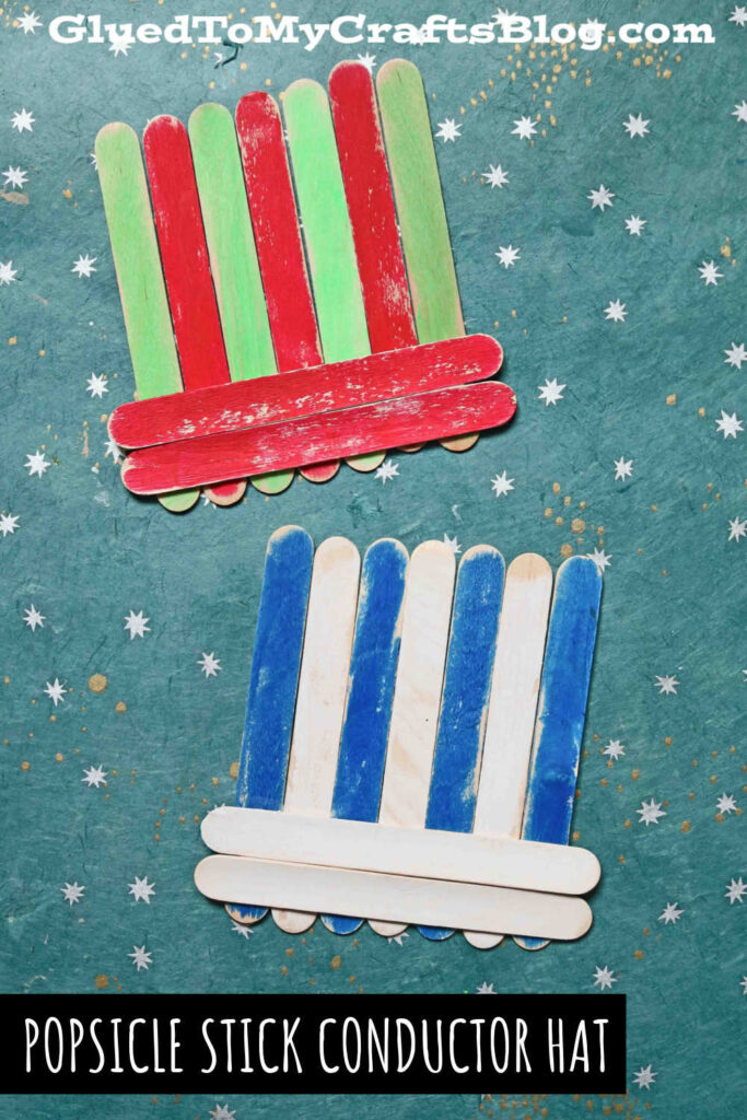 Popsicle Stick Train Conductor Hat - Kid Craft