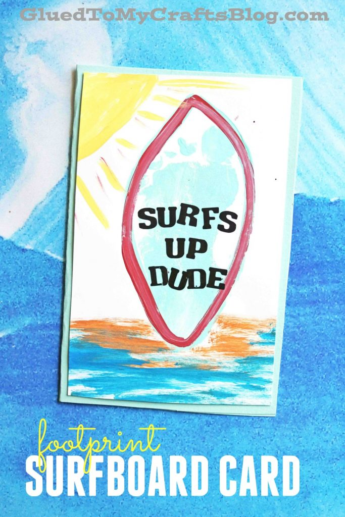 Footprint Surfboard Card - Kid Craft