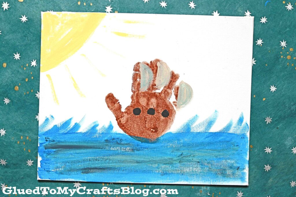 Handprint Boat Canvas - Kid Craft Keepsake