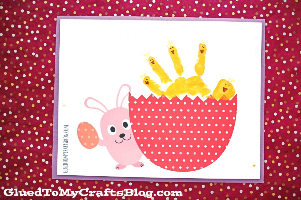 Hatching Handprint Baby Chick - Free Printable