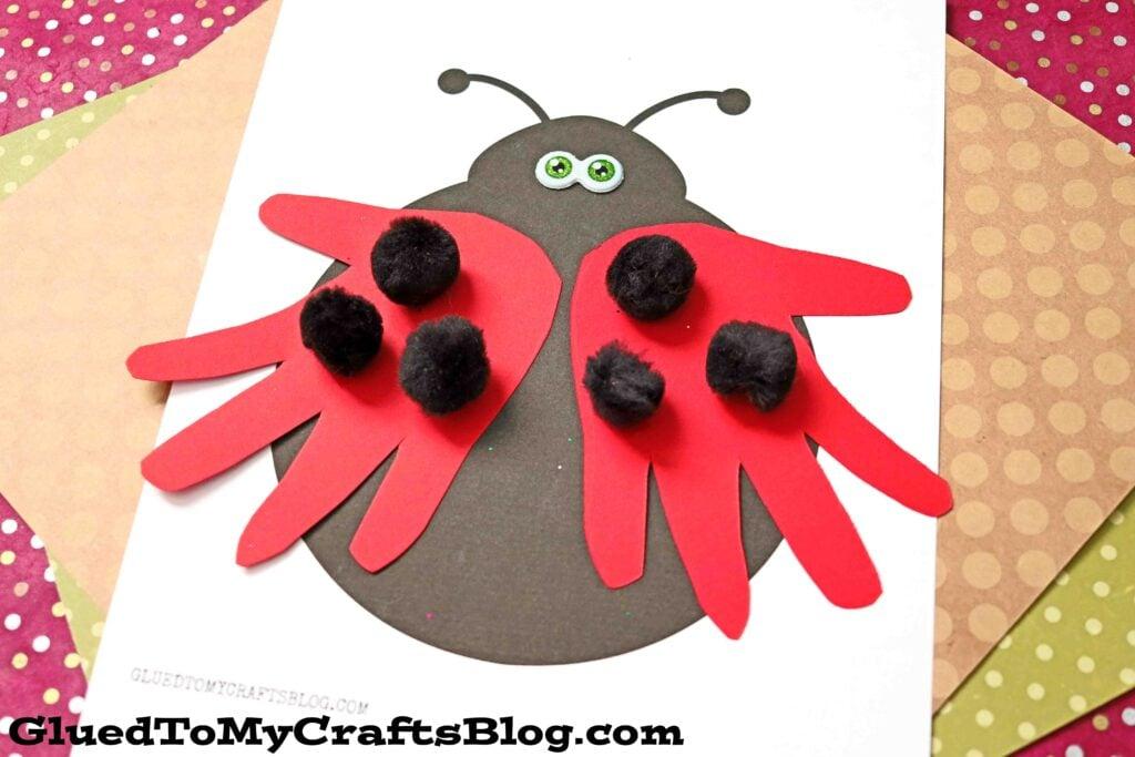 Paper Handprint Ladybug - Kid Craft Idea