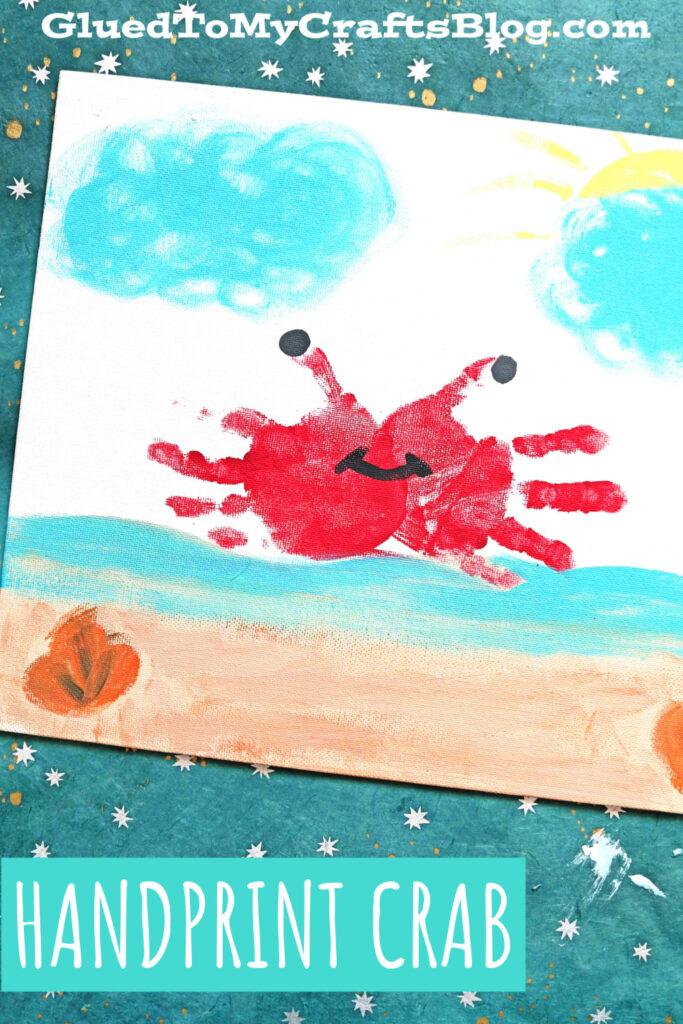 Handprint Crab Keepsake Canvas Craft For A Beach Theme
