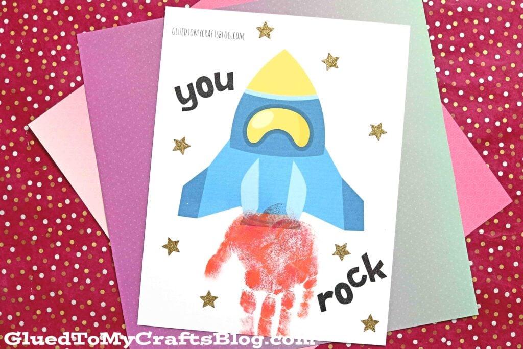 Handprint Rocket Keepsake - You Rock Gift Idea
