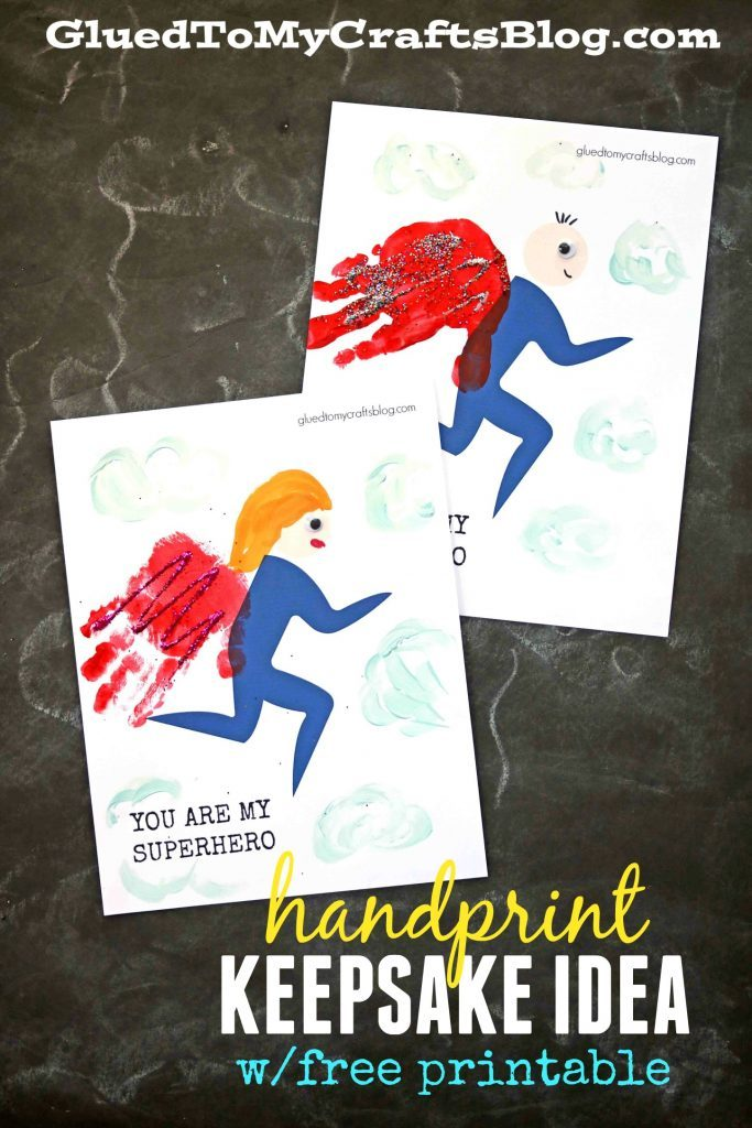 Handprint Superhero Keepsake Idea For Kids