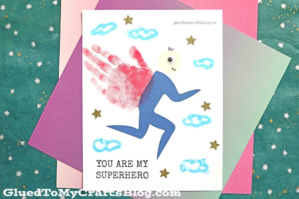 Paper & Paint Handprint Superhero - Keepsake Gift Idea