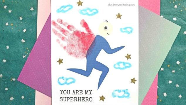 Paper & Paint Handprint Superhero - Keepsake Gift Idea