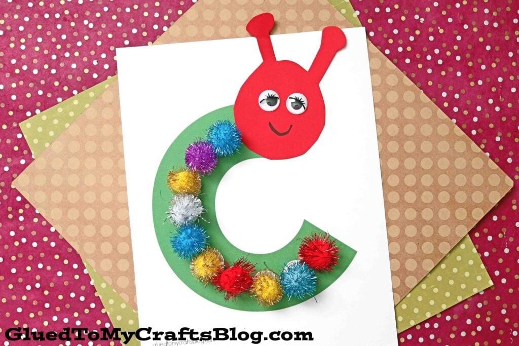 "Paper & Pom Pom ""C"" is for Caterpillar - Kid Craft Idea"