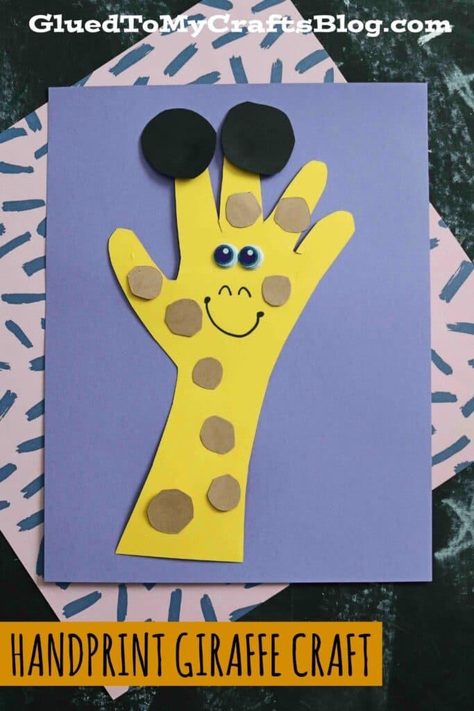 Paper Handprint Giraffe - Kid Craft