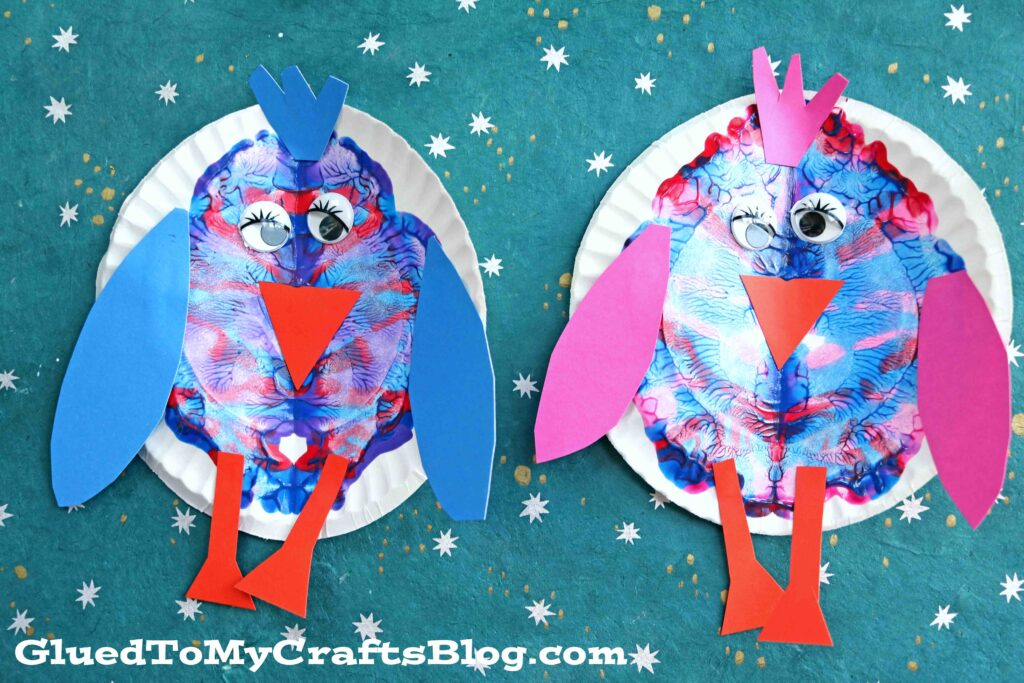 Paper Plate Bird - Spring Kid Craft Idea