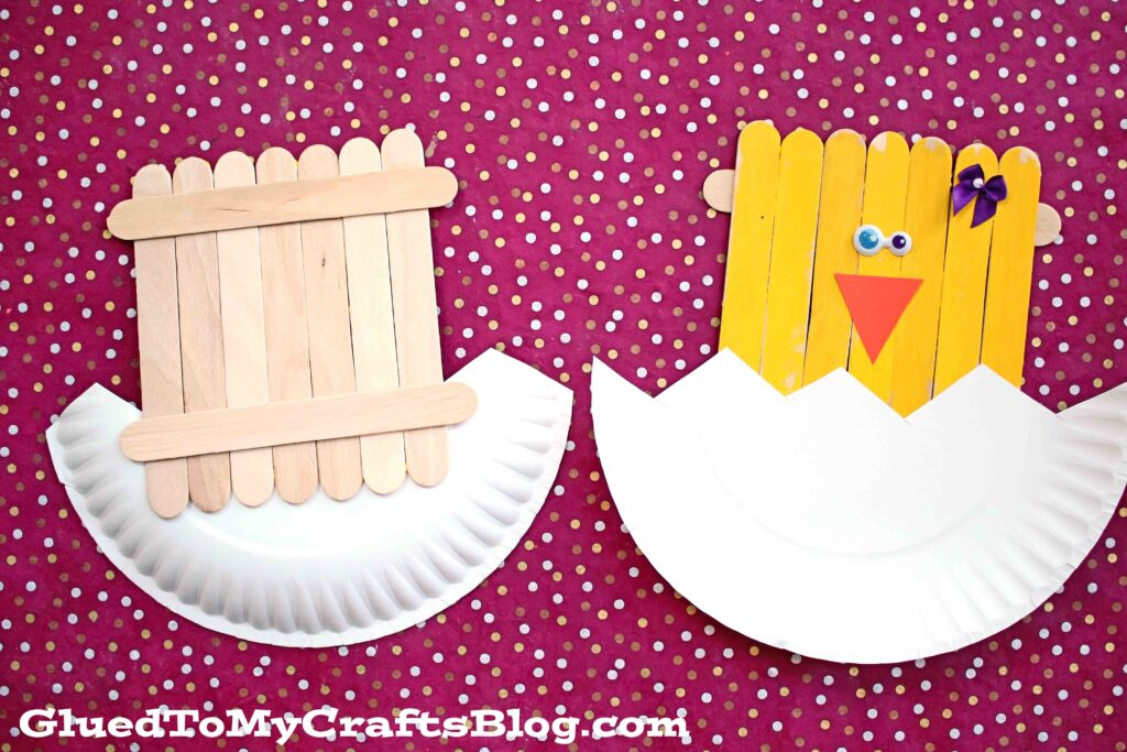 Popsicle Stick Hatching Baby Chick - Spring Kid Craft