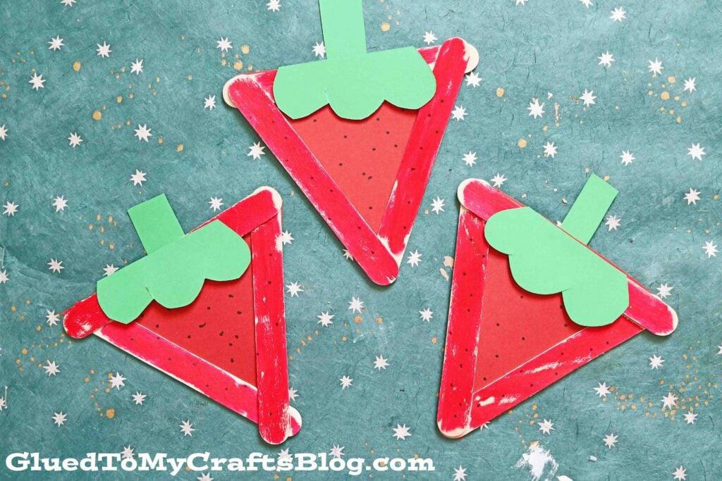 Popsicle Stick Strawberry - Kid Craft