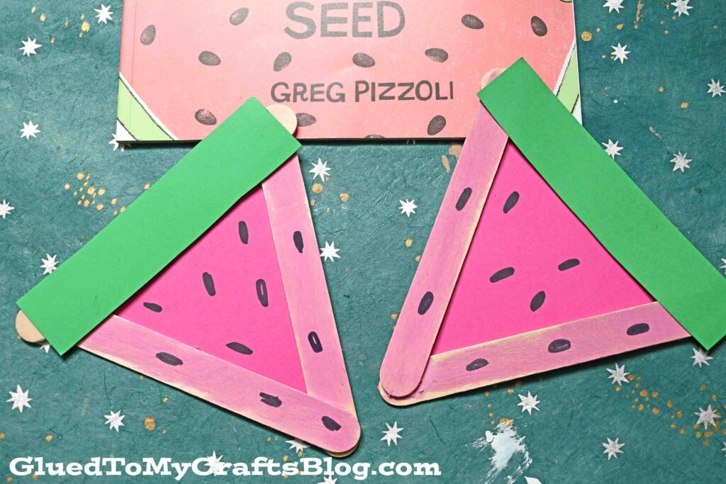 Popsicle Stick Watermelon Slices - Kid Craft