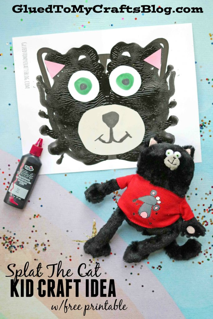 Puffy Paint Splat The Cat - Kid Craft