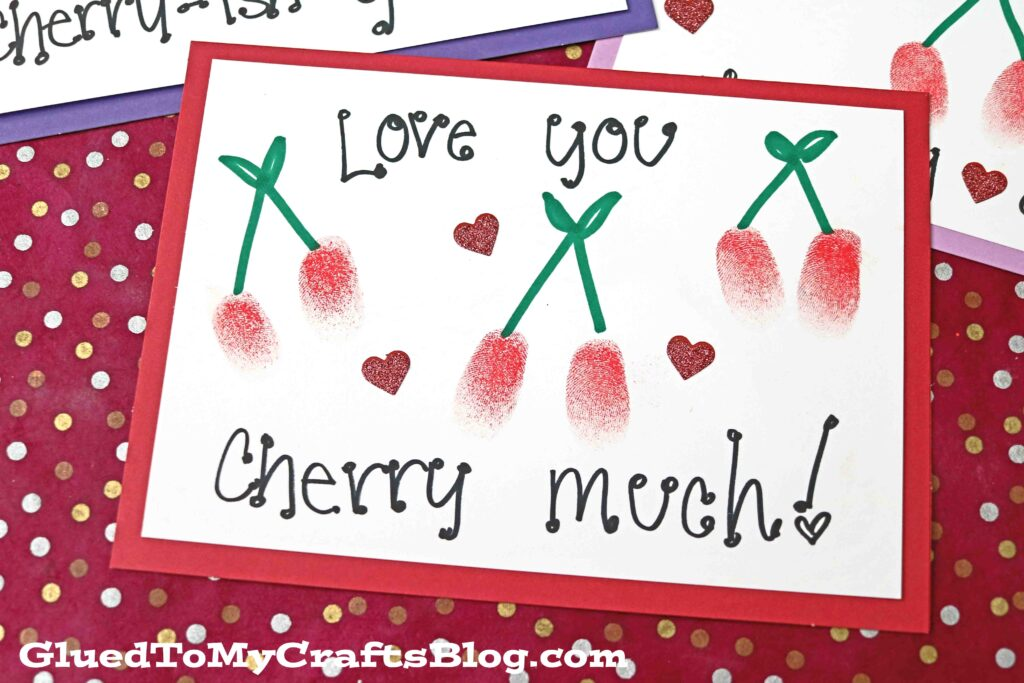Thumbprint Cherry Card - The SWEETEST Kid Craft Idea