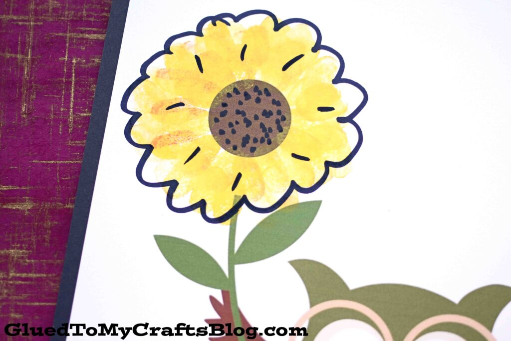 Thumbprint Sunflower - Kid Craft w/free printable