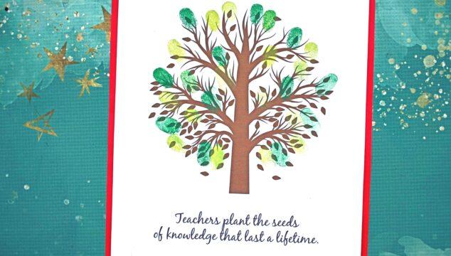 Thumbprint Teachers Plant The Seeds Gift Idea