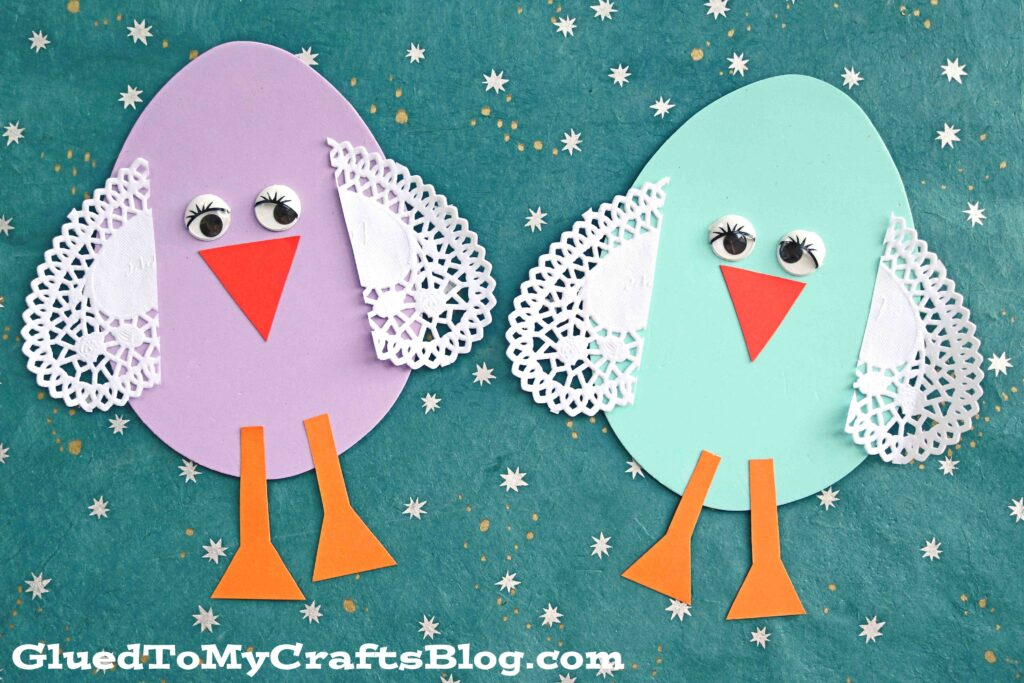 Craft Foam Easter Egg Chick - Kid Craft Idea