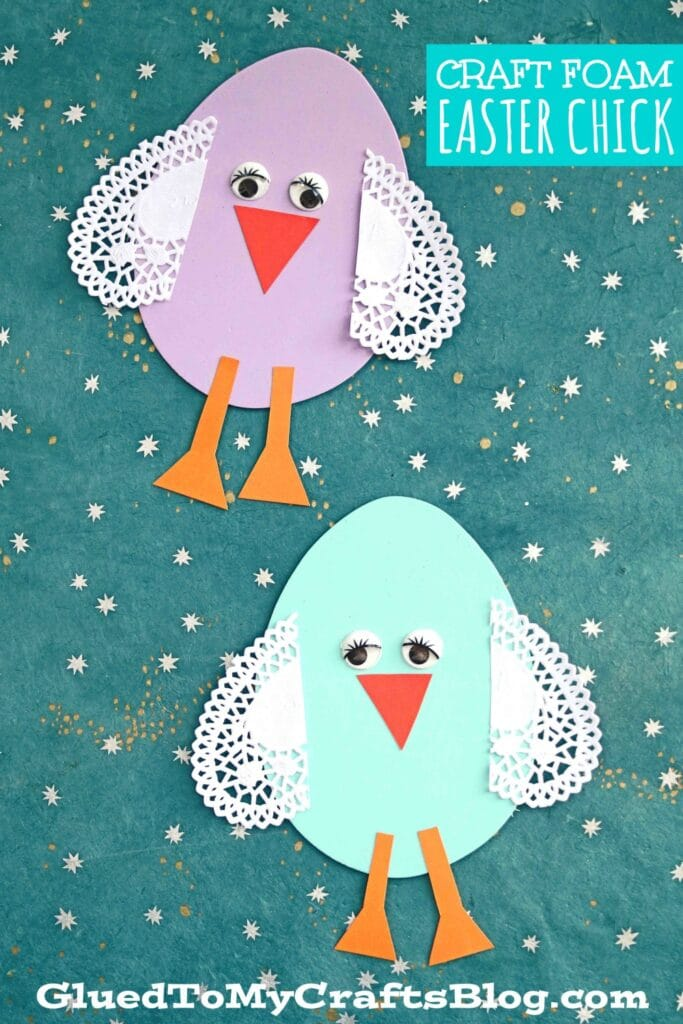 Craft Foam Easter Egg Chick - Kid Craft Idea