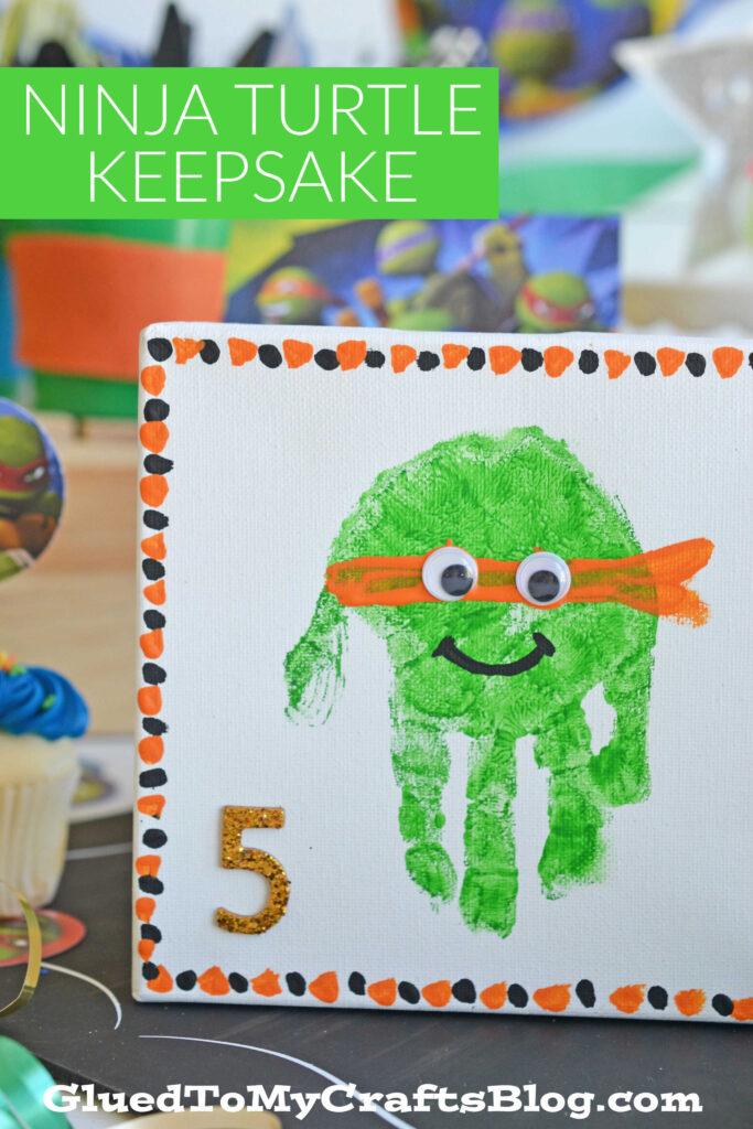 Handprint Ninja Turtle Keepsake Craft For Kids To Recreate