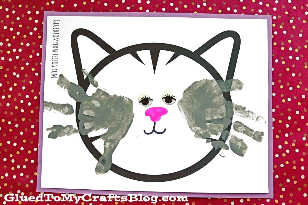 Handprint Cat Whiskers Keepsake Idea For Kids