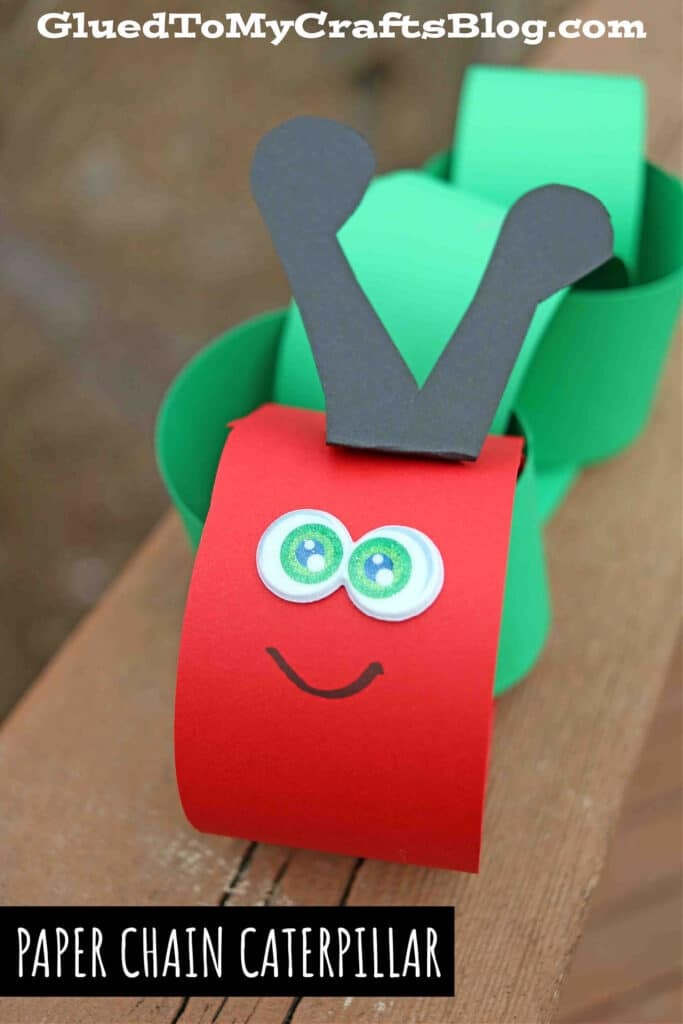 Paper Chain Caterpillar - Kid Craft Idea For Story Time