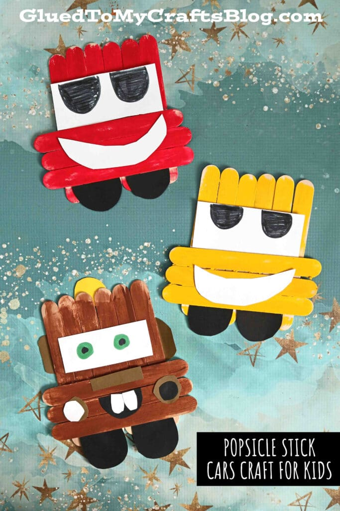 Popsicle Stick Lightning McQueen & Cruz Ramirez - Kid Craft