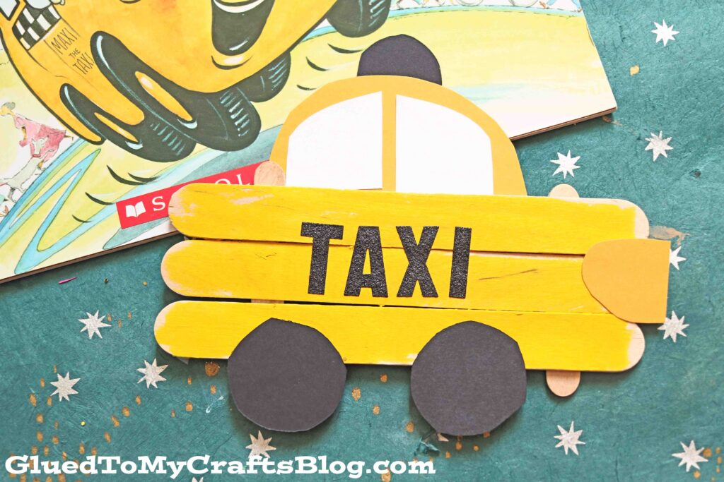 SUPER FAST Popsicle Stick Taxi Car - Kid Craft Tutorial