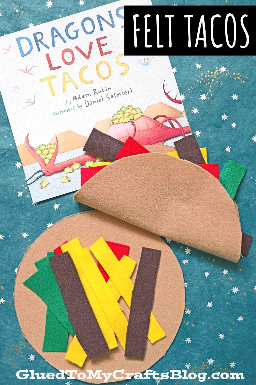 DIY Felt Tacos - Pretend Play Idea For Dragons Love Tacos