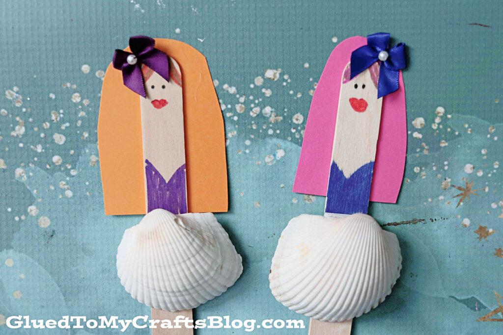 Seashell Ballerina Puppets - Beachy Kid Craft Idea For Summer