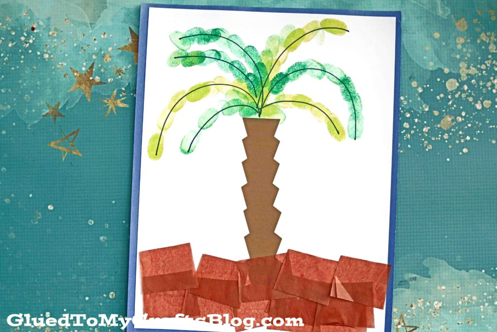 Paper & Thumbprint Palm Tree - Kid Craft Idea For Summer